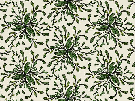 Background, pattern of leaves. Vector lace pattern