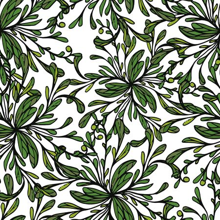 Background seamless, pattern of leaves. Vector lace pattern