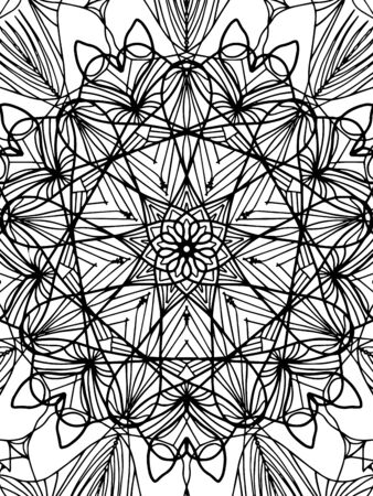 Mandala coloring book for adults vector. Anti stress coloring for adult. Black and white lines. Lace pattern 向量圖像