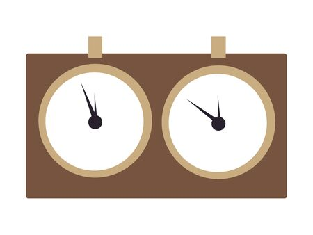 Chess hours, the subject of sports. In minimalist style Cartoon flat raster