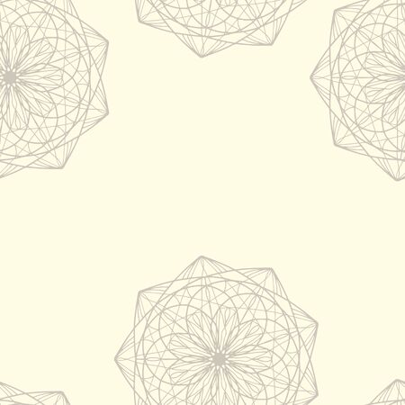 Seamless. Mirror pattern, repeating lines. Star, children coloring, drawing. Black and white snowflake Cartoon vector illustration