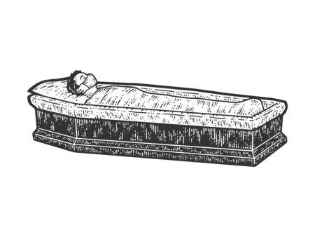 A patient with a coronavirus died, a surgical mask guy lies in a coffin.