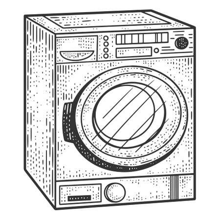 Household appliances, washing machines. Sketch scratch board imitation.
