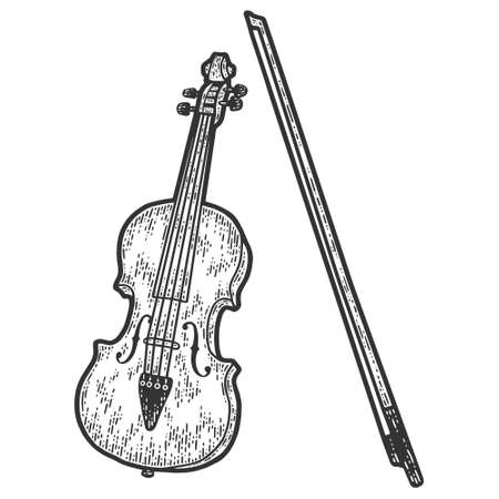 Musical instrument, cello. Sketch scratch board imitation. Black and white.  イラスト・ベクター素材
