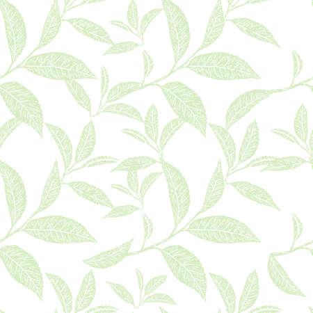 Background, tea leaves. Sketch scratch board imitation.
