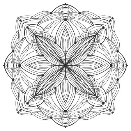 Mandala flower. Pattern coloring book for stress.