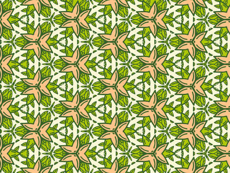 Geometric background from flowers color. Uniform pattern. Standard-Bild
