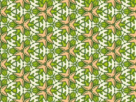 Geometric background from flowers color. Uniform pattern. Illustration
