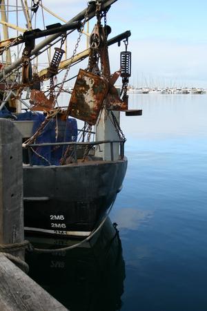 trawler: Old Fishing Trawler Stock Photo