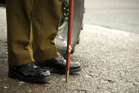 swagger: A Soldier with Shiney Shoes  Stock Photo