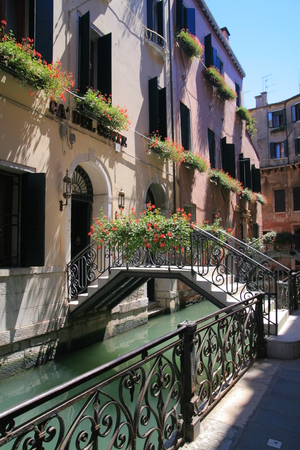 One of the small canals in venice  photo