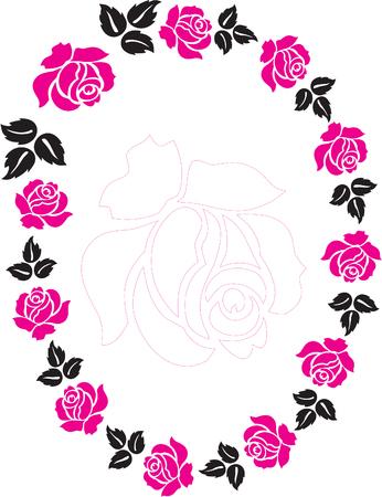 marriage bed: Rose frame Illustration