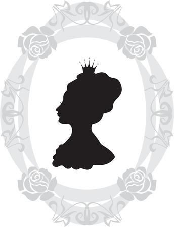 Silhouette de princesse Banque d'images - 2048583