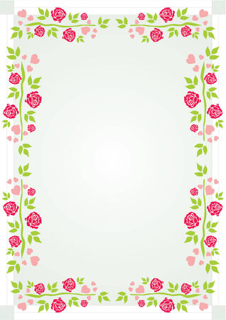 Roses and hearts Vector