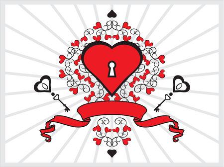 heart and key Stock Vector - 2406215