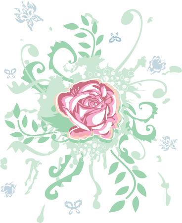 rose decoration Vector