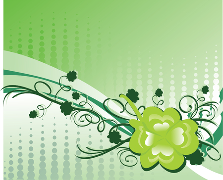 Green shamrock background Stock Vector - 2525791