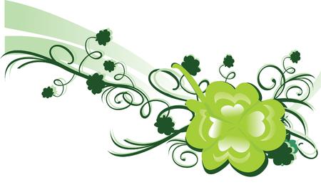 clover backdrop: Green shamrock
