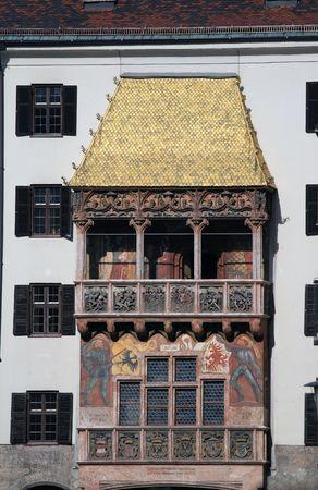 gold roof  innsbruck 免版税图像