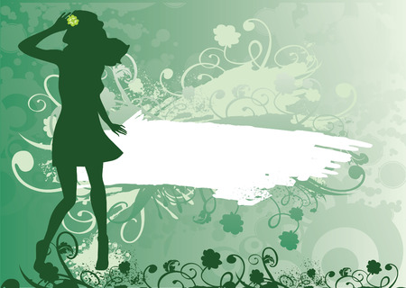 green decoration backgrounds Vector