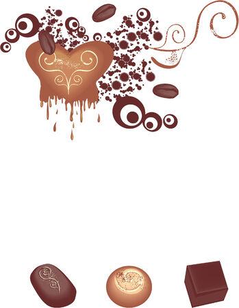 chocolate melt: Cioccolato caramelle  Vettoriali