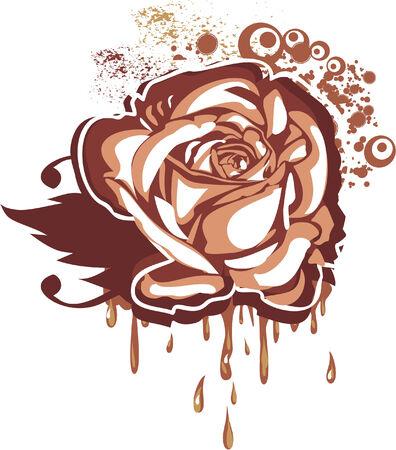 chocolate truffle: Chocolate rose Illustration