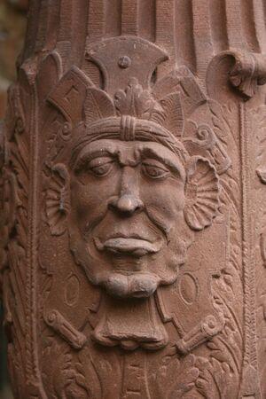 grimacing: grimacing sculpture