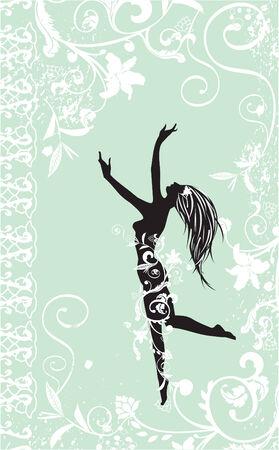 dancing girl Vector