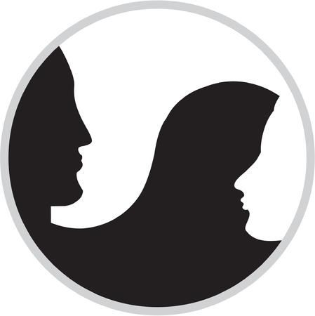 moet de yin yang Vector Illustratie