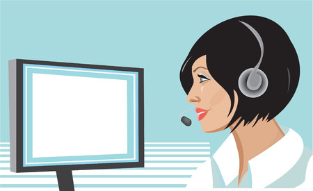 switchboard: Girl with headset