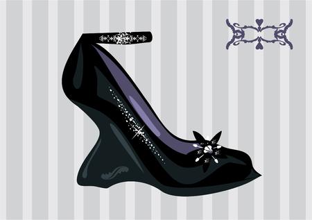 Chic couture fashion shoe