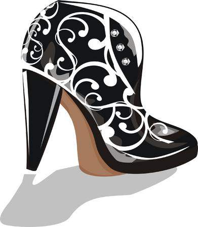 black boot Vector