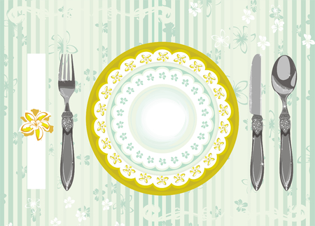 place setting Stock Vector - 3527359