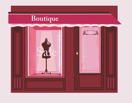 boutique: Chic Boutique Illustration