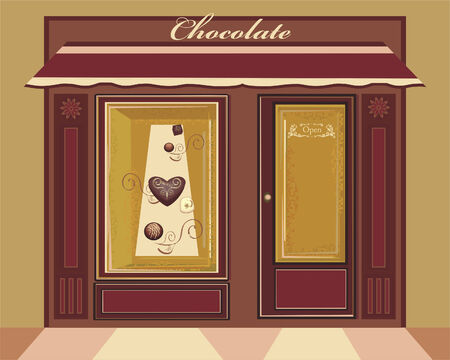 display window: Candy shop Illustration