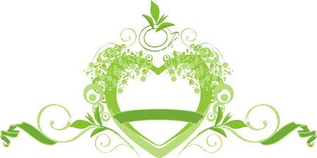 Green tea logo Vector