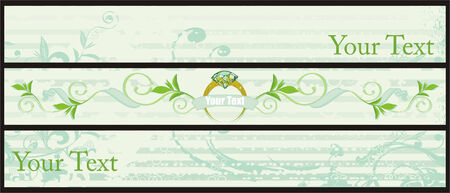 Set of decorative banners Vector