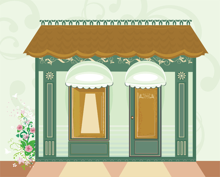 retro-styled shop  Vector