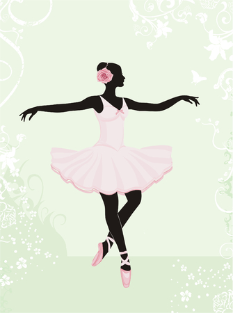 Silhouette of a young woman dancing Stock Vector - 4631996