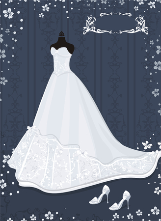wedding dress Stock Vector - 5373589