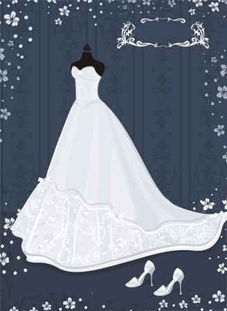 manikin: wedding dress