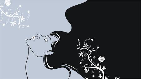 Beautiful woman Illusztráció