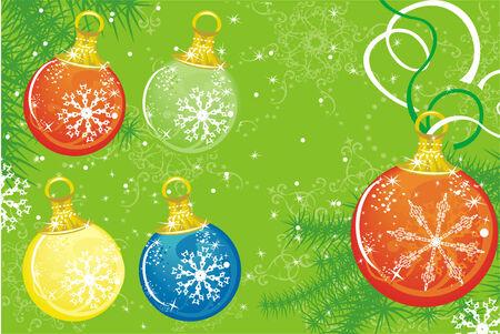 Set of Christmas balls. Vector