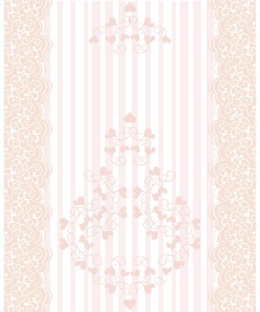 lacework: Vintage lace  background Illustration