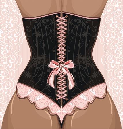 corsetto: Donna in corsetto