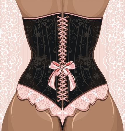 sensual: Woman in corset