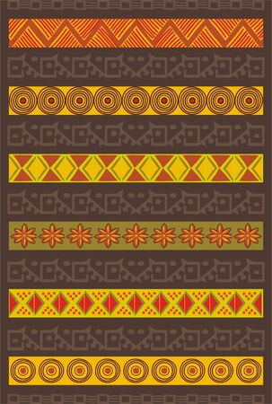 yellow african: Ethnic Pattern