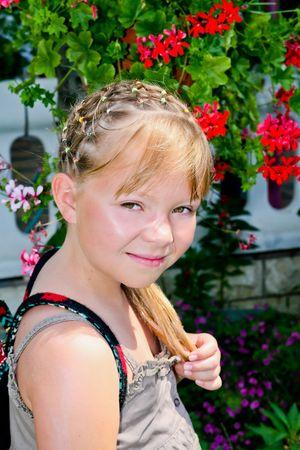 Summer portrait of Little Girl  photo