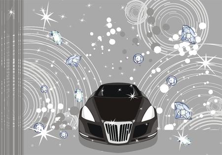car showroom: coche negra