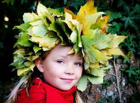 autumn portrait of a little girl  photo